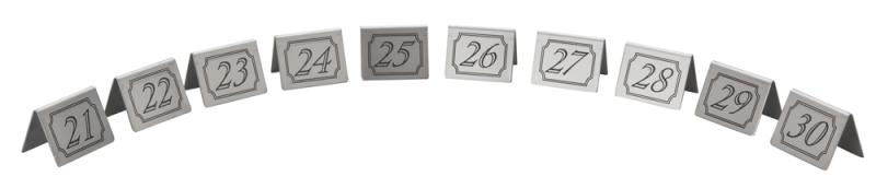21-30 Stainless Steel Table Numbers