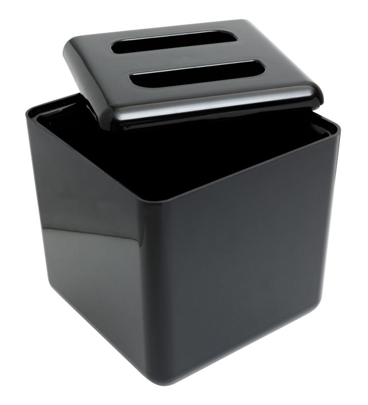 Insulated Square Ice Bucket Black 7pt