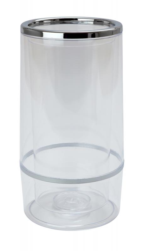 Clear Plastic Wine Cooler
