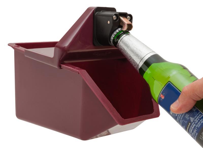 Under counter opener/catcher Burgundy
