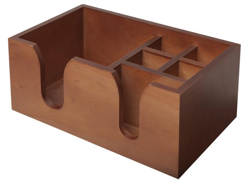 Wooden Bar Caddy - Walnut Effect
