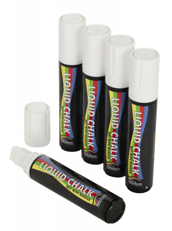15mm Liquid Chalk Pen Pk 5 WHITE