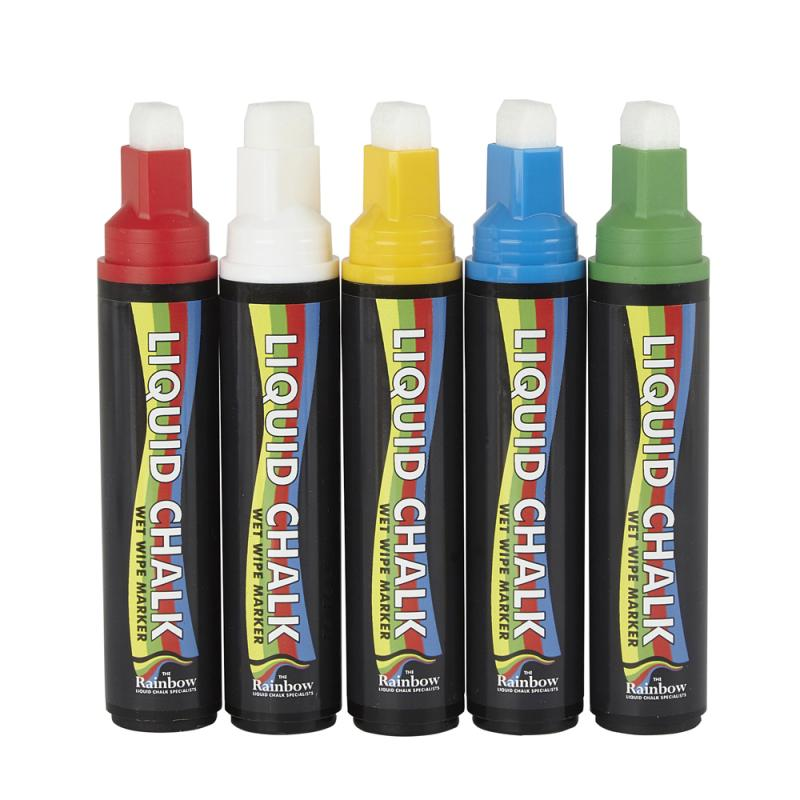 15mm Liquid Chalk Pen Pk 5 COLOUR