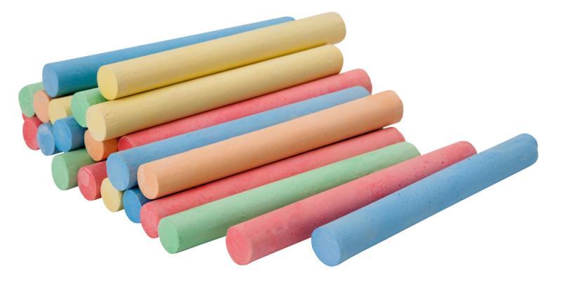 Coloured Chalk Pk 100