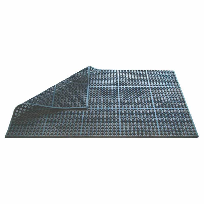 Rubber Floor Mat Black 150 x 90 x 1.0cm