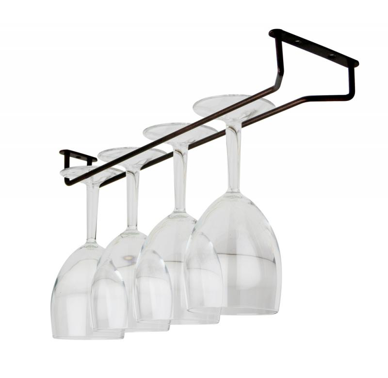 Glass Hanger 16 Inch RUSTIC c/w 3 screws
