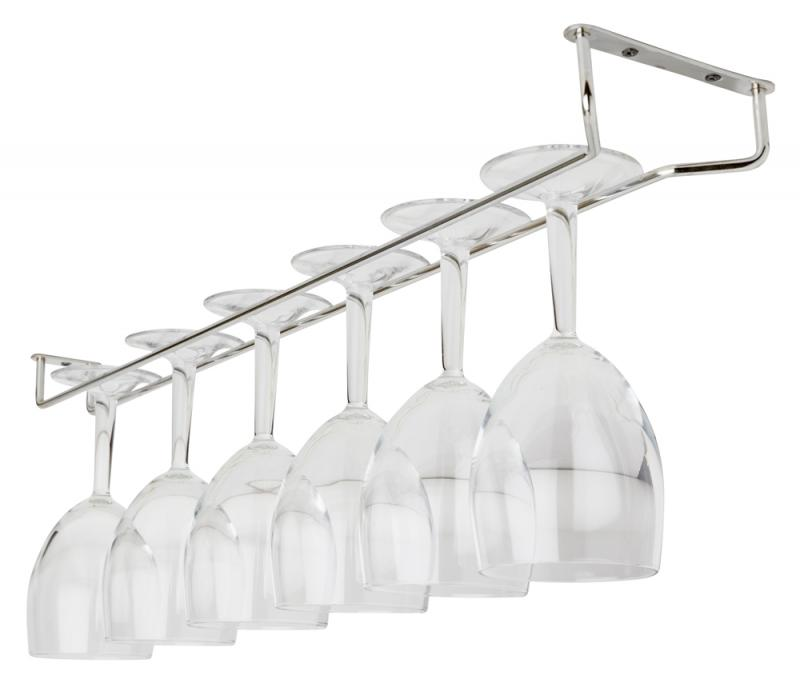 Glass Hanger 24 Inch CHROME c/w 3 screws