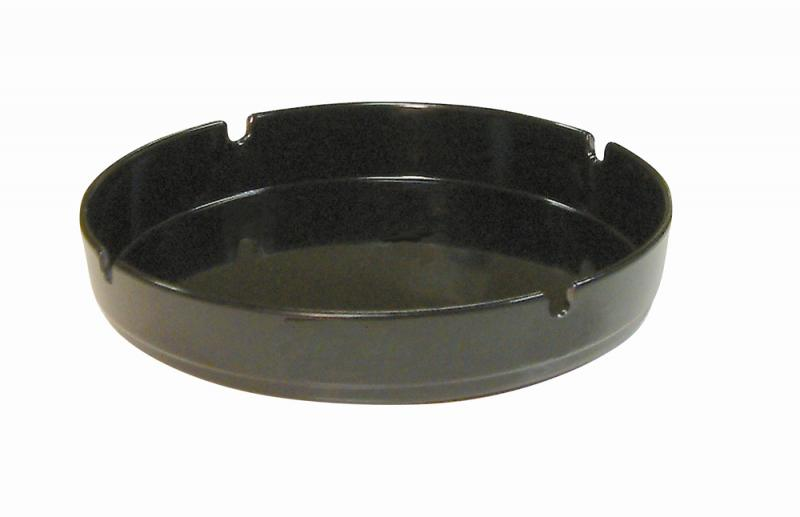 7 Inch Black Melamine Ashtray Pk10