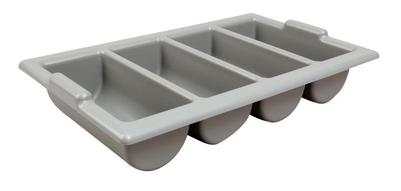 Cutlery Tray / Box Plastic 13 Inch x 21 Inch GREY