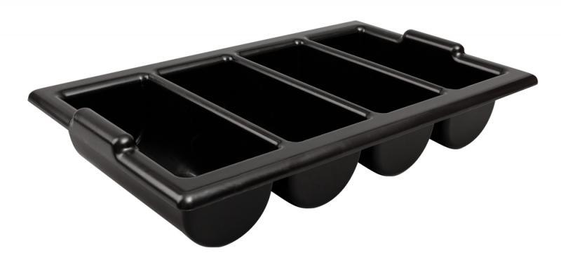 Cutlery Tray / Box Plastic 13 Inch x 21 Inch BLACK