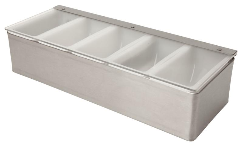 5 Part Stainless Steel Condiment Holder