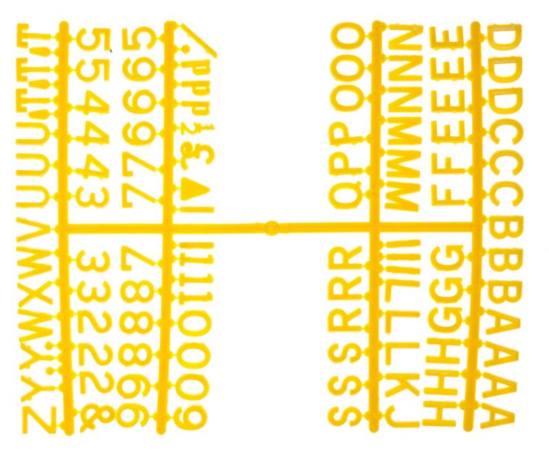 1/2 Inch Letter Set - (660 characters) Yellow