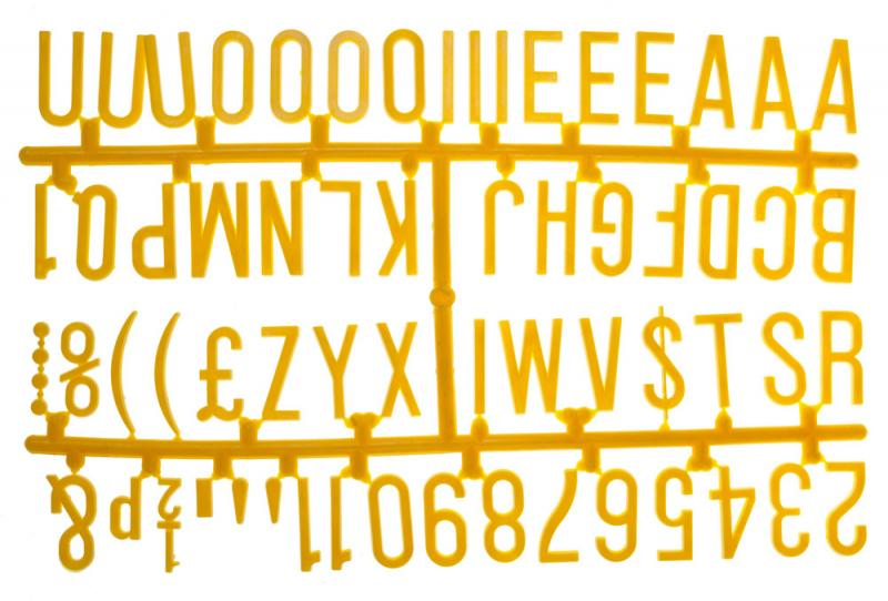 1 1/4 Inch Letter Set - (390 characters) Yellow