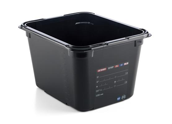Food box bpa free gn1/2 200mm 11,3l black