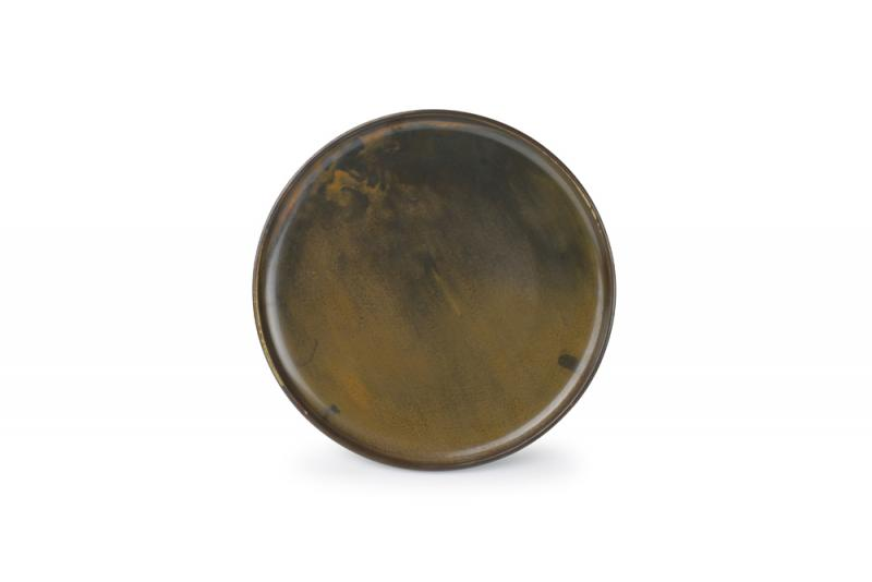 Plate 26xH2,5cm dark brown Escura
