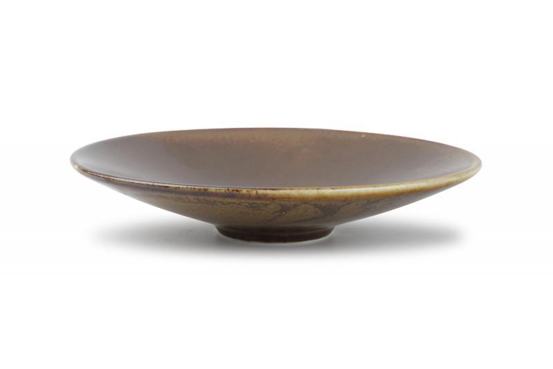Bowl low 22,5xH4,5cm brown Escura