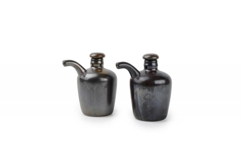 Oil- and vinegar bottle set 0,16l metallic Escura