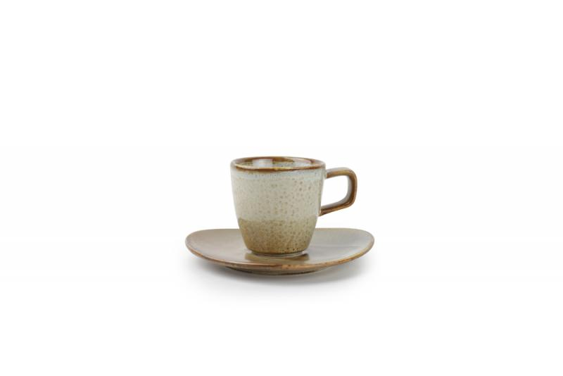 Mocha cup 0,09l + saucer 12,5x11,5cm cream Escura