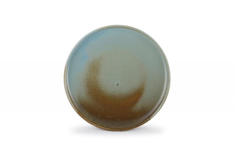 Plate 28,5xH2,5cm brown/green Escura