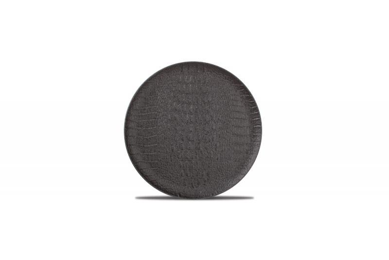 Plate 21cm black Croco