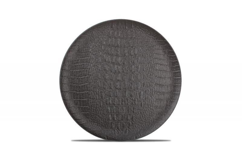 Plate 27cm black Croco