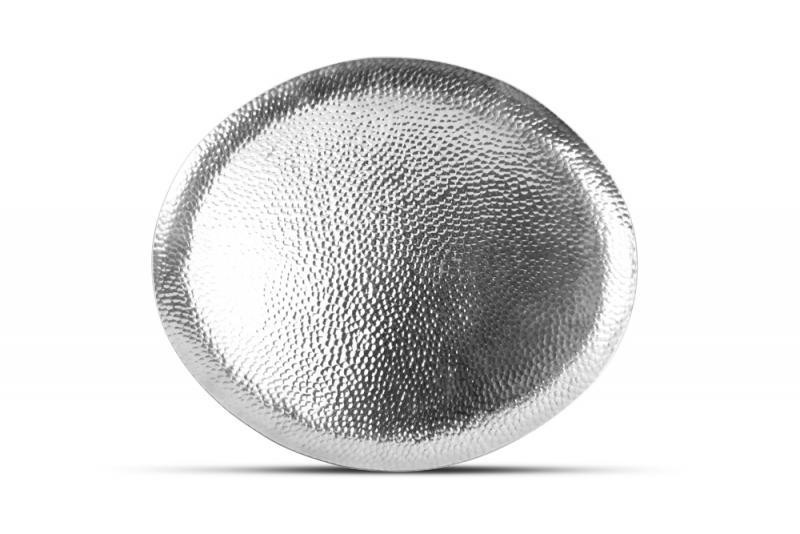 Serving dish 34x29cm oval metal silver Brass 6