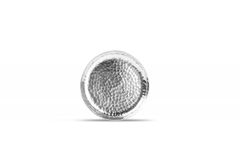 Plate 12xH1,5cm round metal silver Brass 1