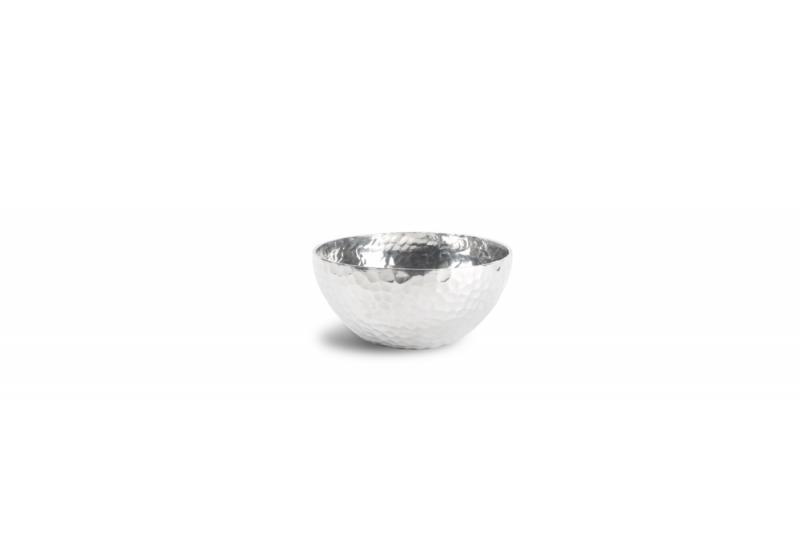 Bowl 10xH5cm round metal silver Brass 1