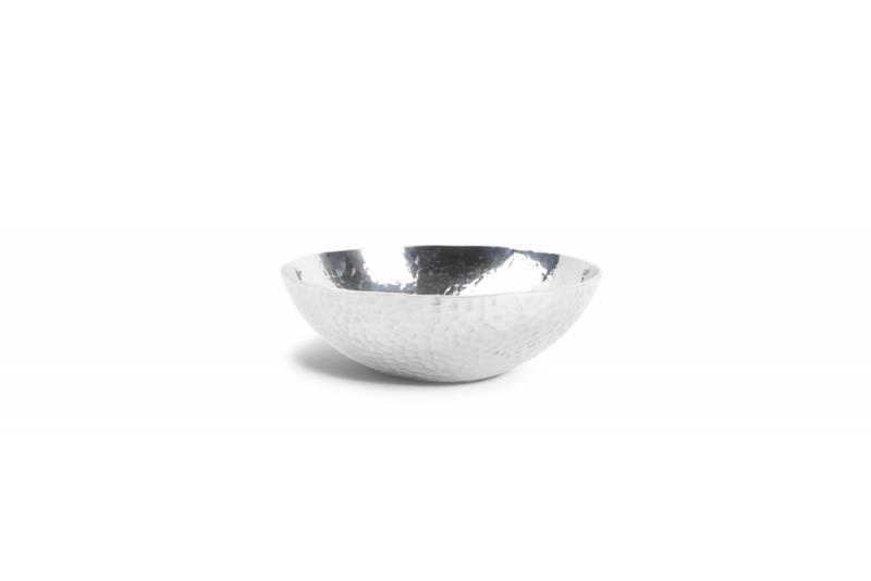 Bowl 18xH6cm round metal silver Brass 1