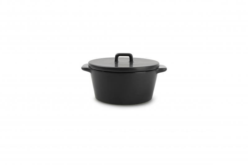 Baking dish 15/10xH5,5cm with lid black Ardo