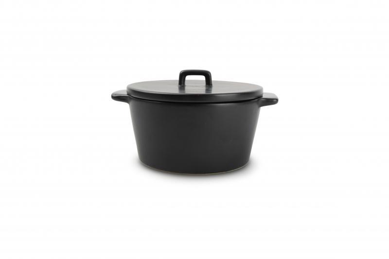 Baking dish 16,5/13xH6,5cm with lid black Ardo