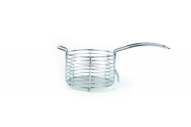 French fries basket 11xH7.5cm round metal wire  1