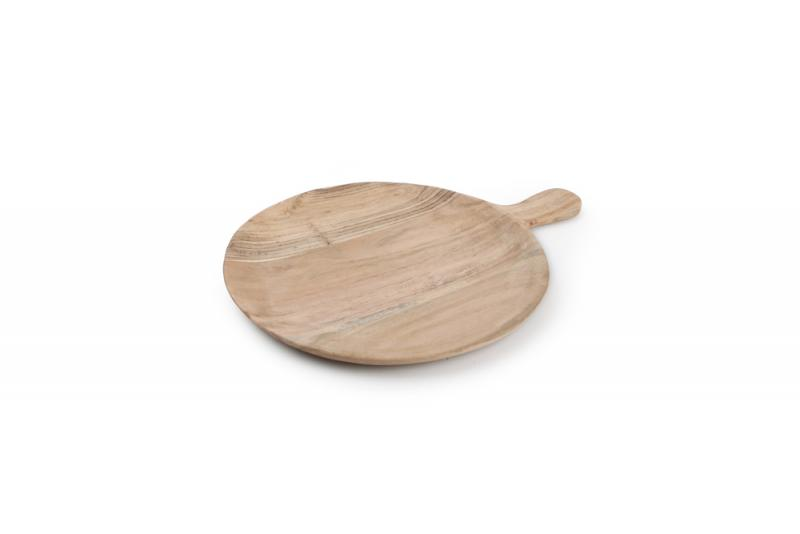 Serving board  34/25cm round with handle Palla 1