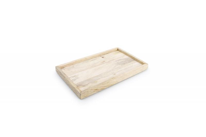 Serving tray with rim 25x15xH2cm wood Essential 1