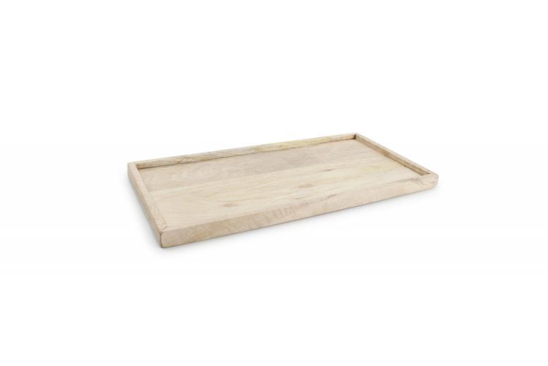 Serving tray with rim 36x18xH2cm wood Essential 1