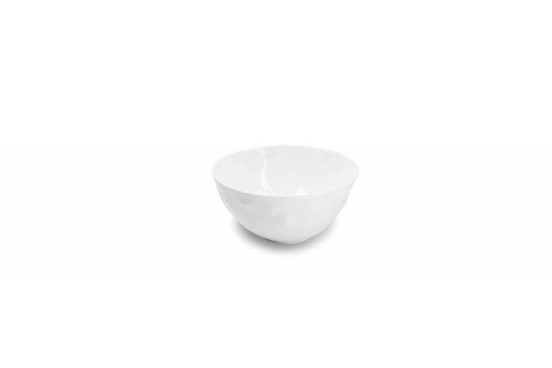 Bowl 12xH6cm white Facet 4