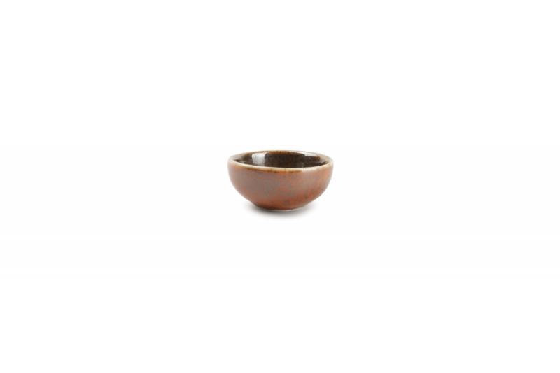 Bowl 7xH3cm orange Ash