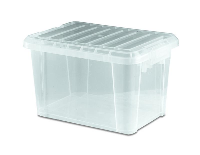 Food box w/lid 9 l transparent
