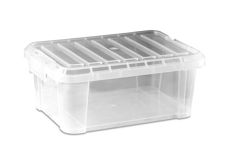 Food box w/lid 14 l transparent