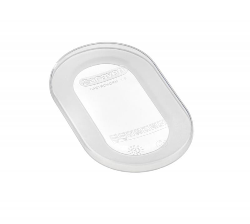 Silicone lid gn1/9 transparent