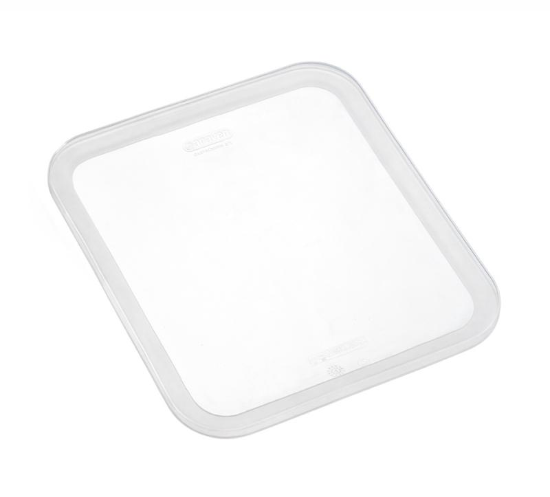 Silicone lid gn1/2 transparent