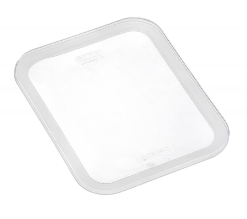 Silicone lid gn2/3 transparent