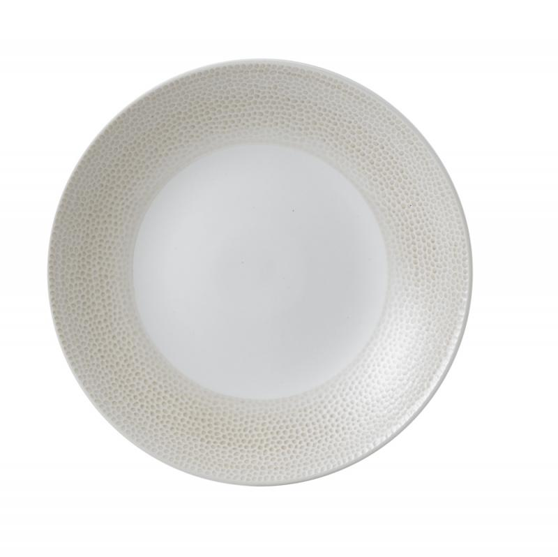 "Isla Spinwash Sand  Deep Coupe Plate 10 5/8"" Box 12"