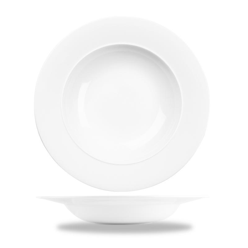"Alc Ambience White Standard Rim Bowl 11"" Box 6"