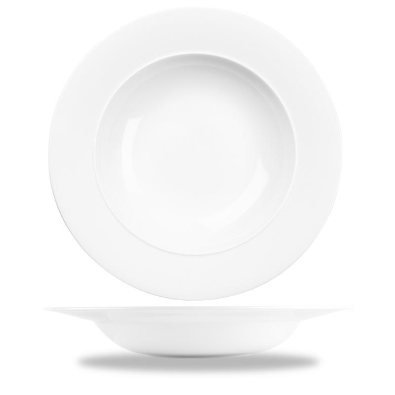 "Alc Ambience White Standard Rim Bowl 12.5"" Box 6"