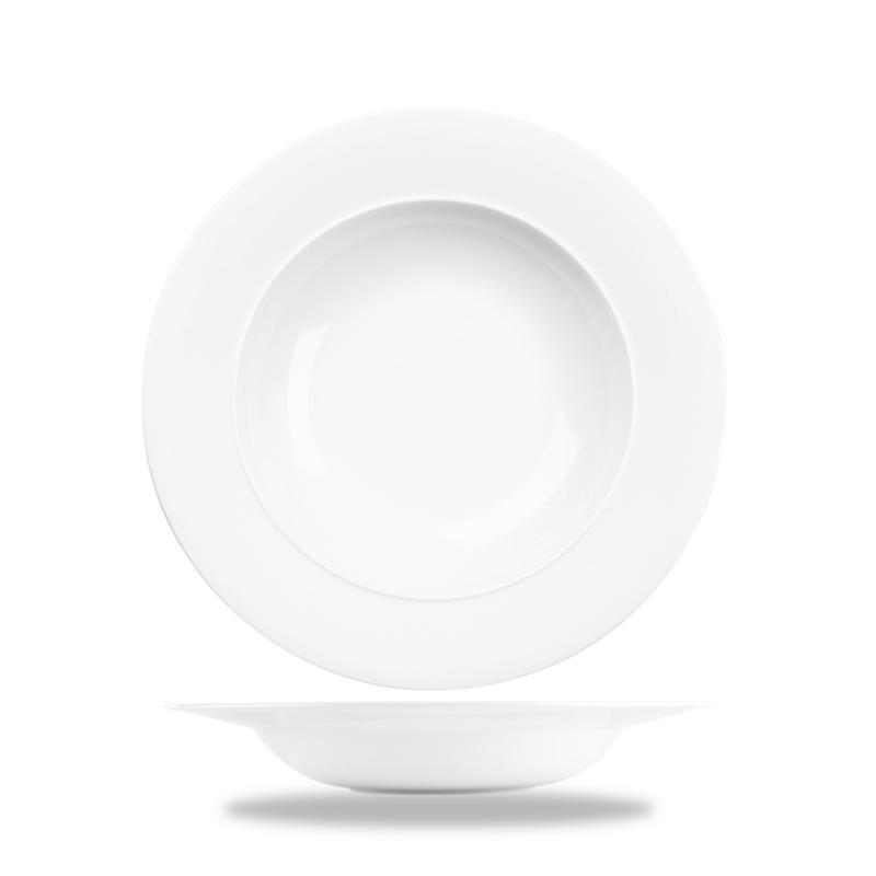 "Alc Ambience White Standard Rim Bowl 8.5"" Box 6"