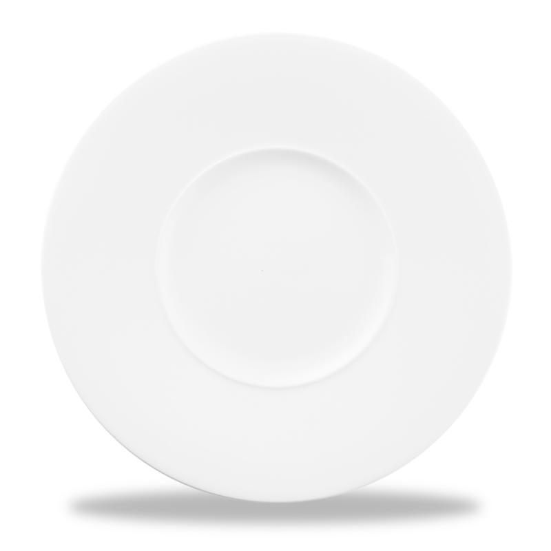 "Alc Ambience White Medium Rim Plate 11"" Box 6"
