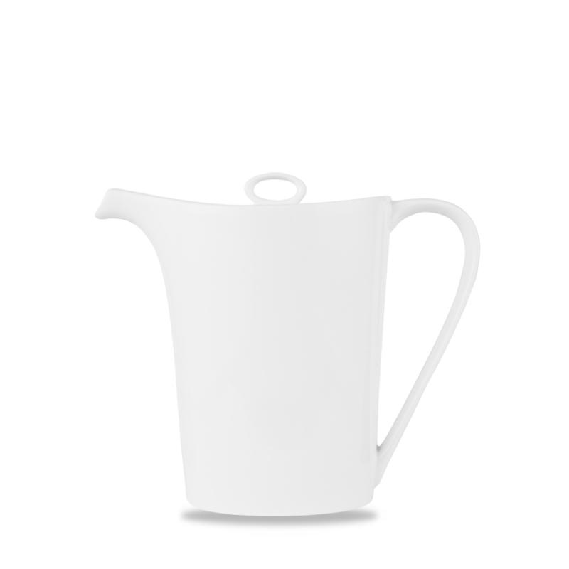 Alc Ambience White Oval Coffee Pot 18Oz Box 6