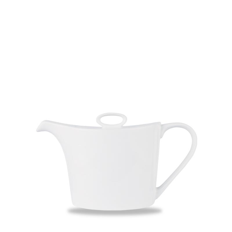 Alc Ambience White Oval Teapot 15Oz Box 6