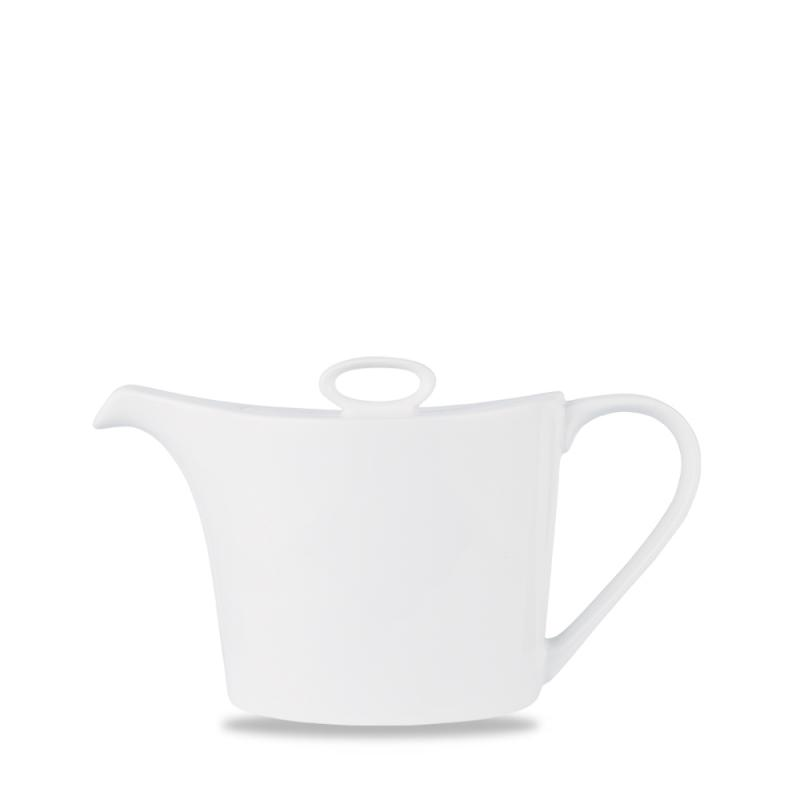 Alc Ambience White Oval Teapot 25Oz Box 6